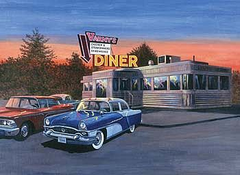 Royal Brush Manufacturing Adult PBN 50'S Diner -- Paint By Number Kit -- #pal28