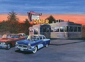 Royal-Brush Adult PBN 50S Diner Paint By Number Kit #pal28
