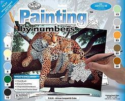 Royal-Brush JR PBN Large African Leopard Paint By Number Kit #pjl24