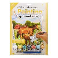 Royal-Brush PBN JR Small Horses In Field Paint By Number Kit #pjs81