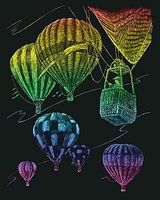 Royal-Brush Rainbow Engraving Art Hot Air Balloons Scratch Art Metal Art Kit #rain23