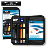 Royal-Brush Keep N Carry Watercolor Pencil Set Painting Kit #rset-kcwps
