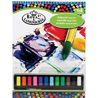 Royal Brush Manufacturing 9x12 Watercolor Cakes Pad Set -- Watercolor Paint -- #rtn-126