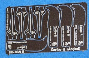 RB Scribe-R Angled Tool, Right-Handed Panel Scribing Tool w/4 Blades- 30, 45, 60, 75 (use w/hobby knife #1 handle) (D)