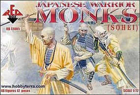 Red-Box Japanese Warrior Monks (Sohei) (48) Plastic Model Military Figure 1/72 Scale #72005