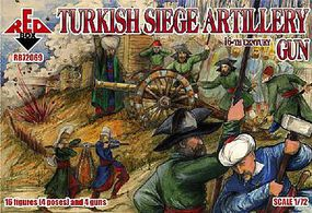 Red-Box Turkish Siege Artillery XVI Century Plastic Model Military Figures 1/72 Scale #7206