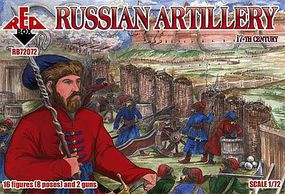 Red-Box Russian Artillery XVII Century Plastic Model Military Figures 1/72 Scale #72072