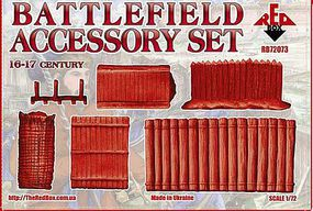 Red-Box Battlefield Accessory Set VI-XVII Century Plastic Model Military Figures 1/72 Scale #72073
