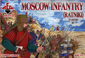 Red-Box 1/72 Moscow Infantry (Ratniki) XVI Century Set #1 (28)