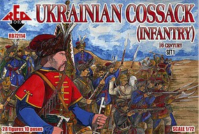 Red-Box 1/72 Ukrainian Cossack Infantry XVI Century Set #1 (28)