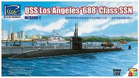 Rich USS Los Angeles 688 Class SSN Plastic Model Military Ship Kit 1/350 Scale #28008