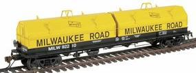 Red-Caboose Evans 100-Ton Coil Car w/Angled Hoods Milwaukee Road HO Scale Model Railroad #32527
