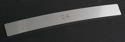 Ribbonrail 5'' Curved Track Alignment Gauge 24'' Radius -- HO Scale Model Train Track Accessory -- #24