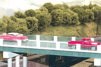 Rix Products 50' Wrought Iron Highway Overpass -- Model Railroad Bridge -- HO Scale -- #121