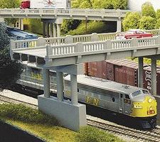 Rix 50 Highway Overpass w/Pier Model Railroad Bridge N Scale #152