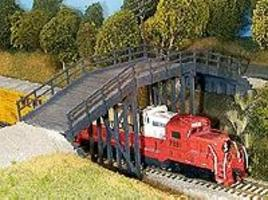 Rix Rural Timber Overpass Model Railroad Bridge HO Scale #200