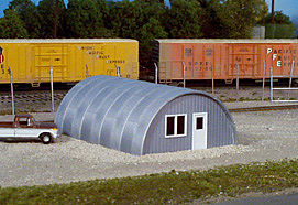 Rix Products Quonset Hut WWII Prefab Metal Building -- Model Railroad Building -- HO Scale -- #410