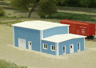 Rix Products Office and Warehouse -- Model Railroad Building -- N Scale -- #5418017541-8017