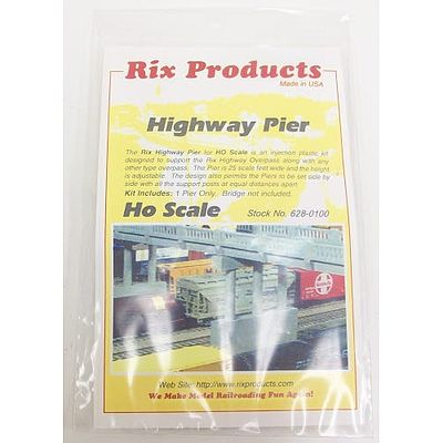 Rix Products Highway Pier -- Model Railroad Bridge -- HO Scale -- #6280100628-0100