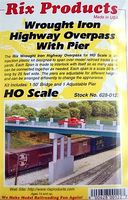 Rix Wrought Iron Overpass with Pier Model Railroad Bridge HO Scale #6280122628-0122