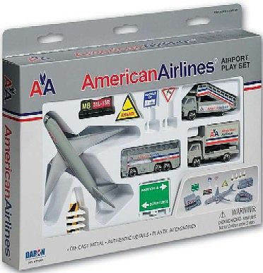 Realtoy International American Airlines Airport Die Cast Playset (13pc Set)