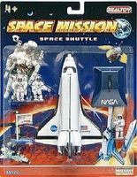 Realtoy Space Shuttle w/Astronauts Die Cast Playset