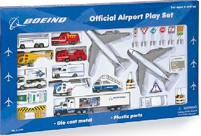 Realtoy International Boeing Airlines Die Cast Playset (30pc Set)