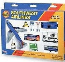 Realtoy Southwest Airlines Die Cast Playset (13pc Set)