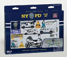 Realtoy NYPD Police Die Cast Playset (13pc Set)