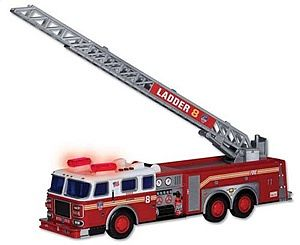 Realtoy International FDNY Fire Ladder Truck w/Lights & Sound, 13'' Long (Plastic)