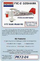 Revell-Monogram Monogram F11C2 Goshawk 1930s USN Fighter Plastic Model Airplane Kit 1/72 Scale #4