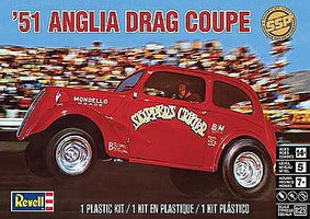 Revell-Monogram Anglia Drag Coupe Plastic Model Car Kit 1/25 Scale #851269