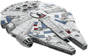 Revell-Monogram Star Wars The Last Jedi- Millennium Falcon w/Sound & Lights (Build & Play Snap)