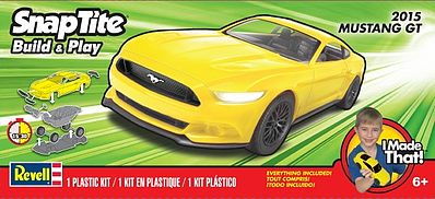 Revell-Monogram 2015 Mustang GT -- Snap Tite Plastic Model Vehicle -- 1/25 Scale -- #851689