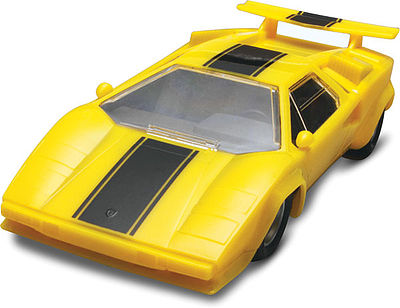 Revell-Monogram Lamborghini Countach -- Snap Tite Plastic Model Vehicle Kit -- 1/32 Scale -- #851753