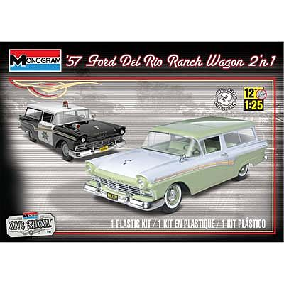 1957 Ford Del Rio Ranch Wagon 2n1 Plastic Model Car Kit 1