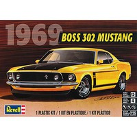 Revell-Monogram 1969 Boss 32 Mustang Plastic Model Car Kit 1/25 Scale #854313