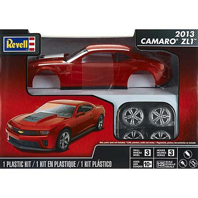 Revell-Monogram 2013 Camaro ZL1 Red -- Plastic Model Car Kit -- 1/25 Scale -- #854385
