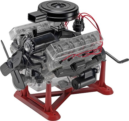 Revell-Monogram Visible V-8 Engine -- Plastic Model Engine Kit -- 1/4 Scale -- #858883