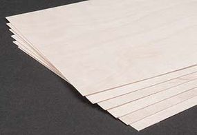 Revell-Monogram Birch Plywood .4mm 1/64x6x12 (6)