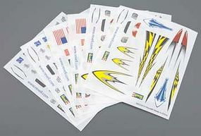Revell-Monogram Dry Transfer Decal H-J Assortment #3 (6) Pinewood Derby Decal and Finishing #y8671