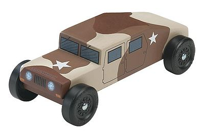 Revell-Monogram Military Racer Kit -- Pinewood Derby Car -- #y9637