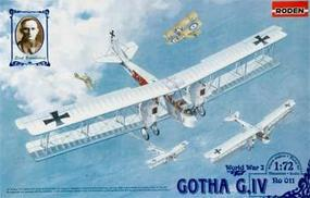 Roden Gotha G.IV Plastic Model Airplane Kit 1/72 Scale #rd0011