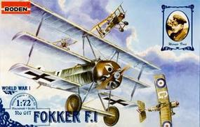 Roden Fokker F.I Triplane Plastic Model Airplane Kit 1/72 Scale #rd0017