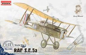 Roden SE5A RAF with Wolseley Viper Plastic Model Airplane Kit 1/72 Scale #rd0045