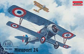 Roden Model Aircrafts Nieuport 24 -- Plastic Model Airplane Kit -- 1/72 Scale -- #rd0060