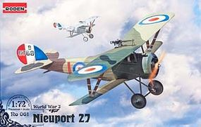 Roden Nieuport 27 Plastic Model Airplane Kit 1/72 Scale #rd0061