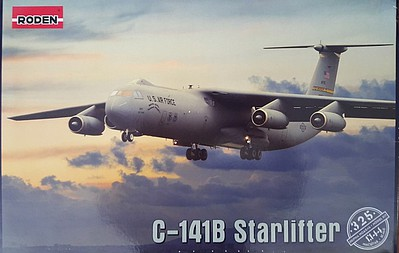 Roden Model Aircrafts Lockheed C-141B Starlifter -- Plastic Model Airplane Kit -- 1/144 Scale -- #rd0325