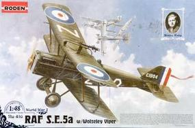 Roden SE5a RAF W/Wolseley Viper Plastic Model Airplane Kit 1/48 Scale #rd0416