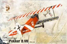 Roden Fokker D.VII OAW Early Plastic Model Airplane Kit 1/48 Scale #rd0420